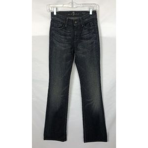 7 For All Mankind High Waist Bootcut Jean Blue 24